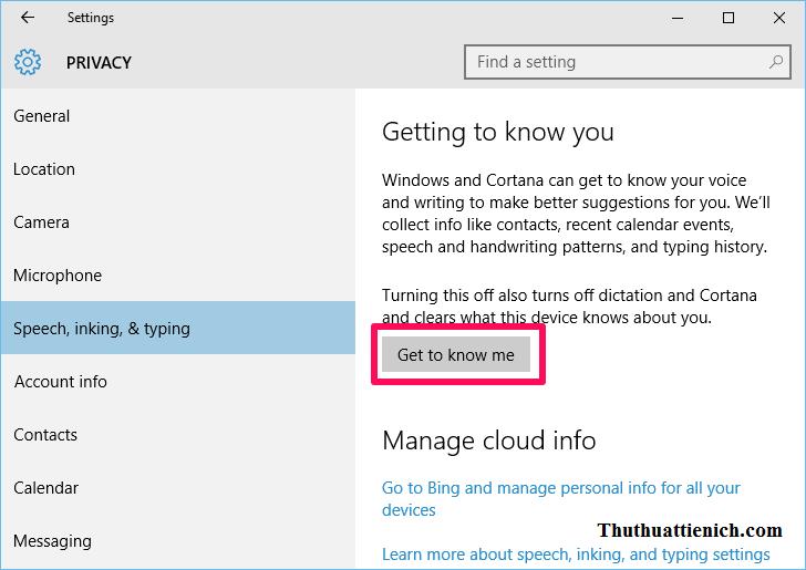 Ngăn Windows 10 thu thập thông tin người sử dụng