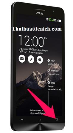 Nhấn vào giữ nút đa nhiệm để chụp ảnh màn hình