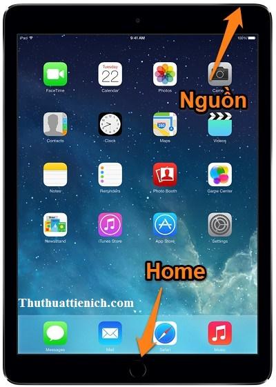 Cách chụp ảnh màn hình trên iPad
