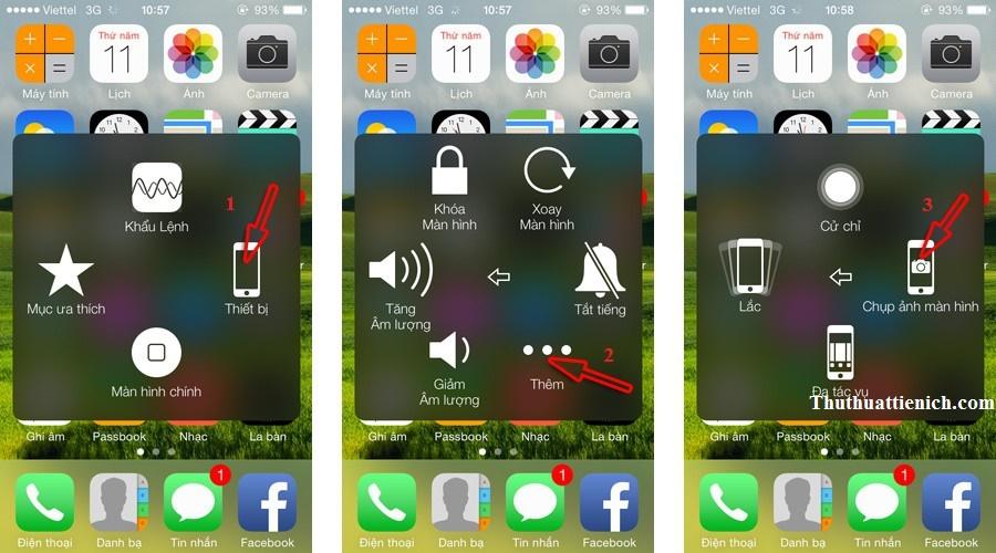 Cách chụp ảnh màn hình trên iPhone/iPad