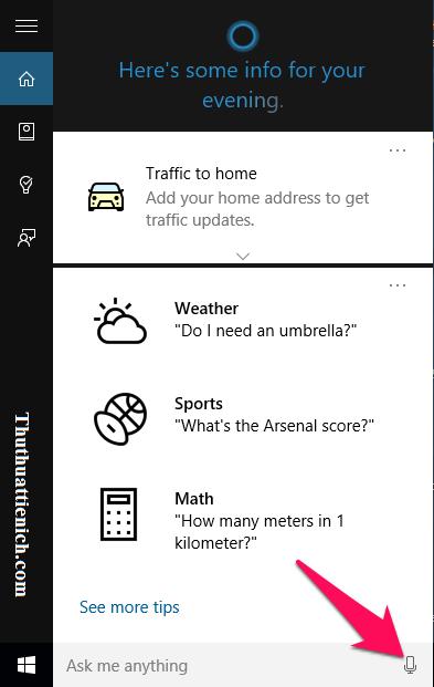 """Cách """"gọi"""" và ra lệnh cho trợ lý ảo Cortana"""