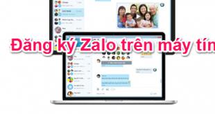 Hướng dẫn cách đăng ký tài khoản Zalo trên máy tính