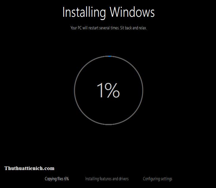 Bắt đầu quá trình nâng cấp lên Windows 10