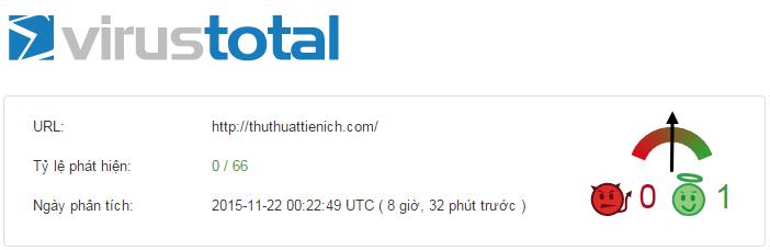 Quét virus online với Virustotal