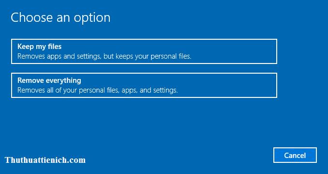 Lựa chọn các file sẽ bị xóa