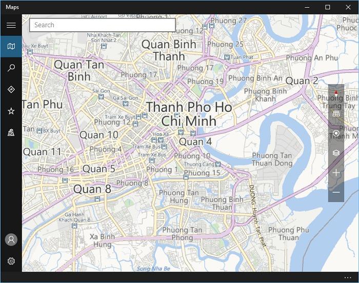 Xem bản đồ Việt Nam vừa tải ở trên không cần mạng