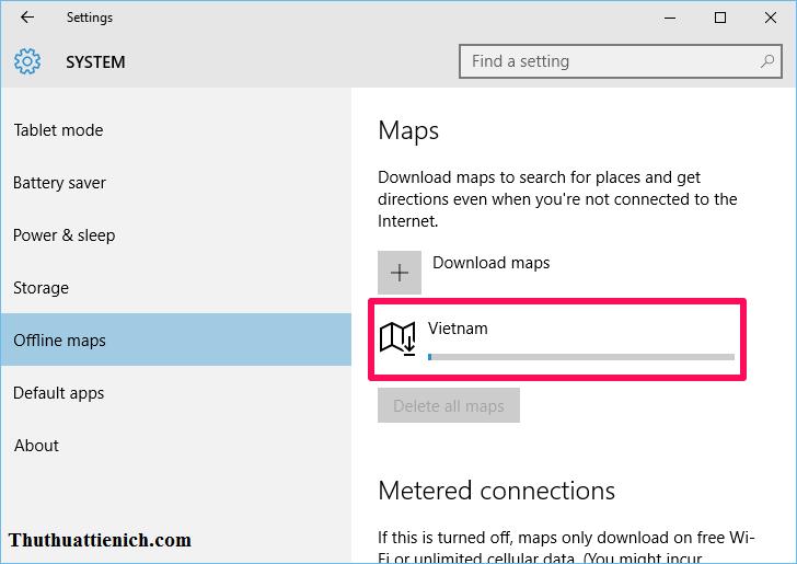 Tải bản đồ Offline xong