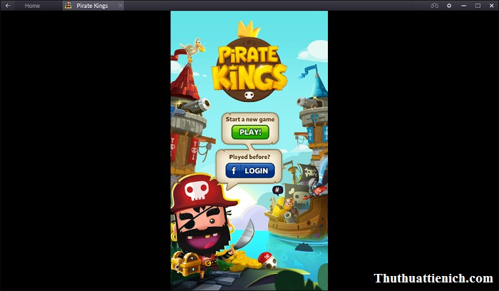Giao diện menu game Pirate Kings