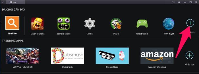 Nhấn nút Tất cả ứng dụng để tìm game vừa cài đặt