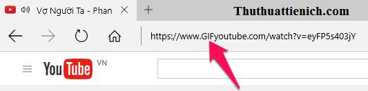 Link Video Youtube sau khi thêm GIF