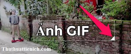 Di chuyển, thay đổi độ lớn chữ thêm vào ảnh GIF