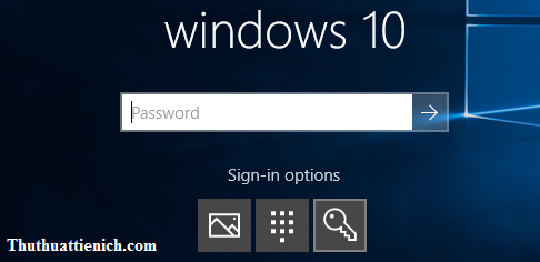 Sử dụng mã PIN để đăng nhập trên Windows 10