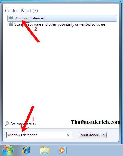 Kiểm tra phần mềm Windows Defender đã được tắt chưa