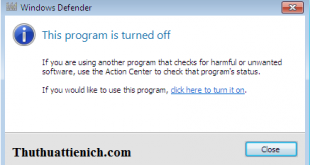 Hướng dẫn bật/tắt phần mềm Windows Defender trên Windows 7