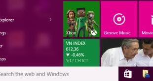 Hướng dẫn thay đổi màu sắc Menu, Action Center và Taskbar trên Windows 10