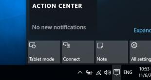 Thay đổi các nút Quick Actions trong Action Center trên Windows 10