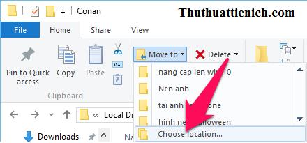 Nhấn nút Choose location... rồi chọn thư mục OneDrive mới