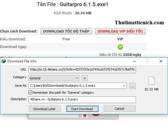 IDM đã tự động bắt link với đuôi file vừa được thêm