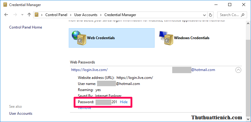 Xem mật khẩu đã lưu trên trình duyệt Microsoft Edge