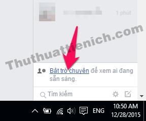 Bật trò chuyện nick Facebook trên máy tính