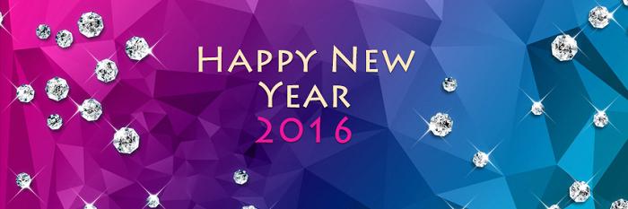 Ảnh bìa Facebook chúc mừng năm mới 2016