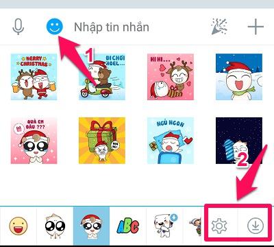 Cách mở trang download & quản lý Sticker nhanh