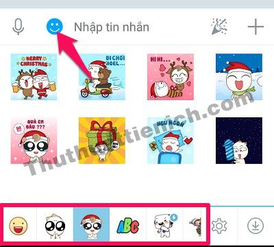 Cách sử dụng Sticker khi chat