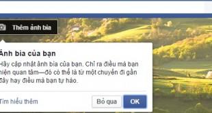 Hướng dẫn cách thay đổi ảnh bìa Facebook mới