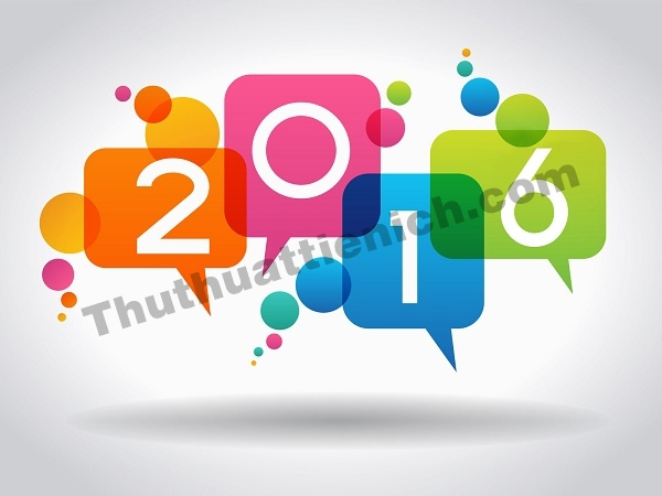 Chúc mừng năm mới 2016 đầy màu sắc