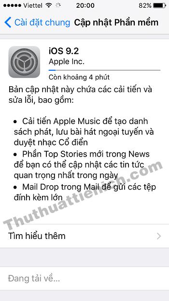 iPhone/iPad sẽ tải về bản cập nhật