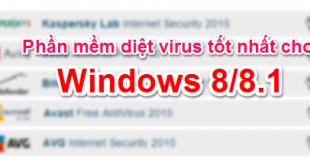 Phần mềm diệt virus tốt nhất cho Windows 8/8.1 (AV-Test)
