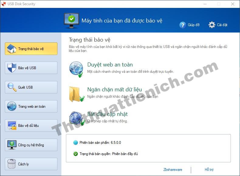 Phần mềm USB Disk Security với ngôn ngữ tiếng Việt