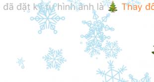 Facebook thêm hiệu ứng tuyết rơi cho Messenger đón Noel