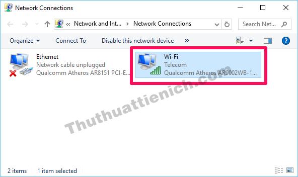 Nhấn đúp chuột vào mạng wifi đang kết nối