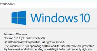 Cách xem phiên bản (Version) và số Build Windows 10