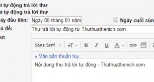 Cách bật/tắt tự động trả lời thư Gmail