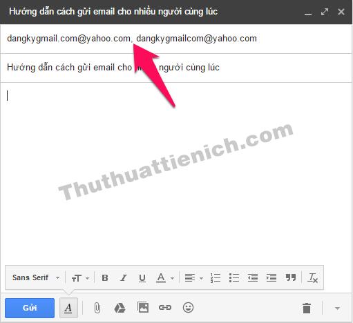 """Nhập thêm các email khác vào đây, ngăn cách nhau bằng dấu phẩy """",""""."""
