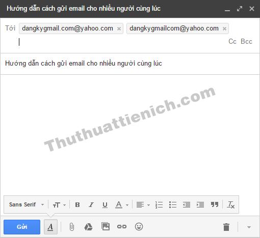 Các email được ngăn cách với nhau bằng các khung giúp bạn dễ dàng phân biệt hơn