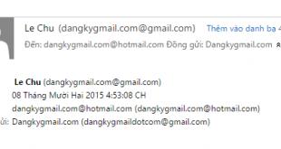 Cách gửi email cùng lúc cho nhiều người trên Gmail, OutlookHotmail, Yahoo mail