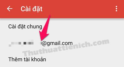 Nhấn vào tên địa chỉ Gmail bạn muốn thêm chữ ký