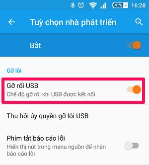 Bật Gỡ rối USB