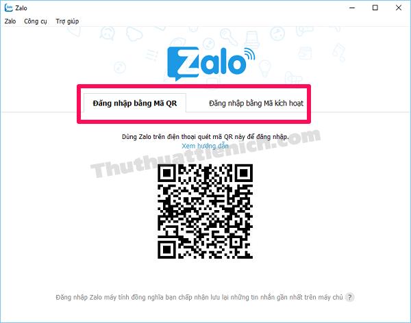2 cách đăng nhập Zalo trên PC