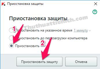Tích vào tùy chọn thứ 3 rồi nhấn nút như đánh dấu trong hình