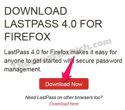 Nhấn nút Download để cài đặt LastPass cho trình duyệt