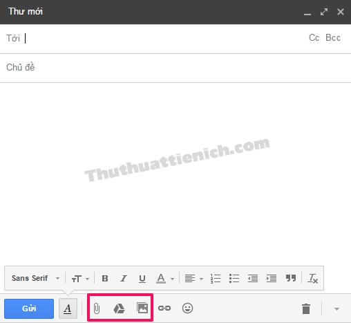 3 tùy chọn gửi hình ảnh, tập tin đính kèm qua Gmail