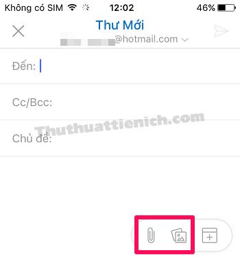 2 tùy chọn đính kèm tập tin khi gửi thư từ Outlook trên iPhone/iPad