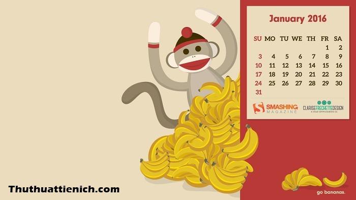 Năm 2016 là năm con khỉ nên không thể thiếu các chú khỉ trong những ngày đầu năm này được