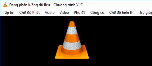 Giao diện VLC Media Player đang quay video