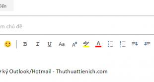 Cách tạo chữ ký trên Outlook/Hotmail