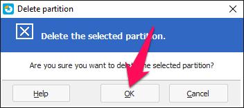 Nhấn nút OK để xác nhận xóa